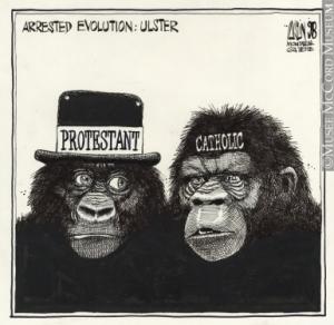 """""""Ulster,"""" Aislin, Montreal Gazette, 1998."""