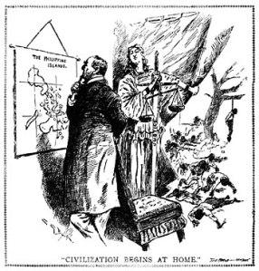 """""""Civilization Begins at Home,"""" Literary Digest #17, 26 November 1898."""