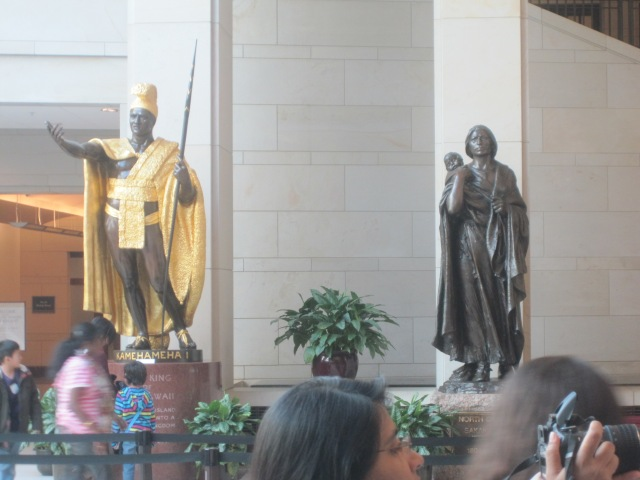 On the left is our tour guide's favo(u)rite statue.