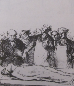 """Honore Daumier"" in Editorial and Political Cartooning by Syd Hoff (page 45)."