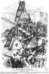 Carl Schurz is Don Quixote in this cartoon by Thomas Nast from Harper's Weekly of April 6, 1872