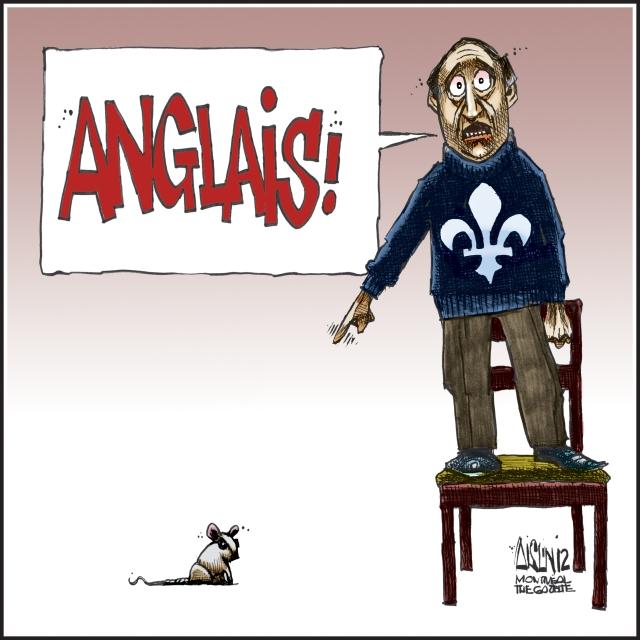 """Anglais!"" Aislin, Montreal Gazette, 2012"