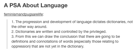 A PSA about Language