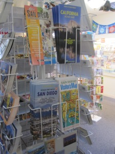 Gift shop tourist maps.