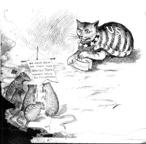 """Who'll bell the cat?"" Clifford K. Berryman, 29 July 1898"