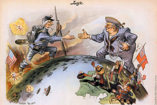 John Bull and Uncle Sam, c. 1900