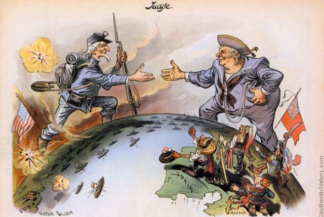 John Bull and Uncle Sam, c. 1900