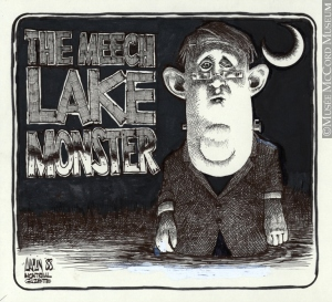 """Meech Lake Monster,"" Aislin, 1988"