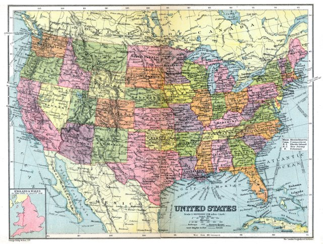 Map of United States 1936