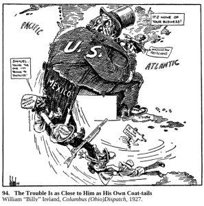 """The trouble is as close to him as his own coat tails"" by Billy Ireland, Columbus Dispatch, 1927, as seen in 231"