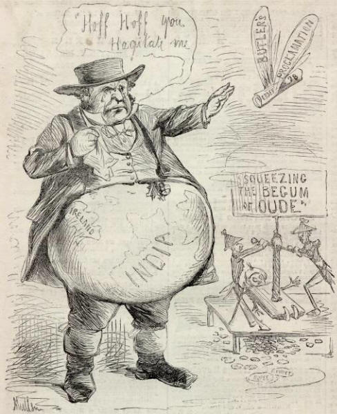 """Virtuous indignation of John Bull at the horrors of the war for the union,"" Harper's Weekly, 26 July 1862"