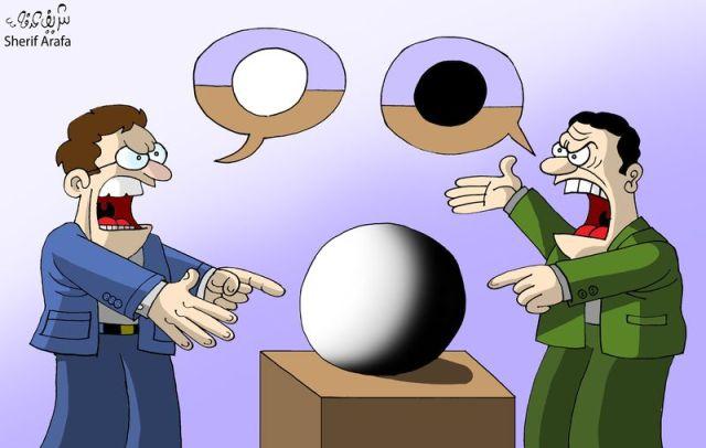 """""""The Truth,"""" Sherif Arafa, Cartoon Movement, 7 May 2012"""
