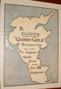 "Ogden's ""Guinea - Gold"" Cigarettes, Have Turned England Upside Down Through Pure Enjoyment, The Illustrated London News, 1899"