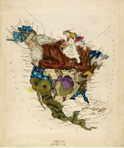 cartoon map of north america by lillian lancaster
