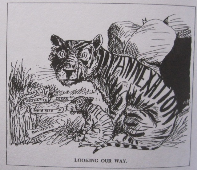 """Looking our way,"" 1911, in Hou & Hou, Great Canadian Political Cartoons (Volume 1), page 182"