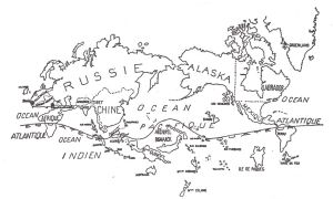 Surrealist map of the world, 1929
