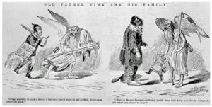 """1 January 1870, """"Old Father Time and His Family,"""" via Library and Archives Canada"""