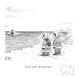 """It's your mother. She's floated back."" - Christopher Weyant - New Yorker - 18 September 2006"