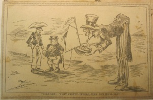 [Scrapbook of political cartoons from American newspapers] circa 1890-1920. Newberry call number: scrapbook – oversize NC1420 .S37.