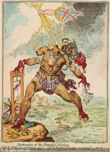 "James Gillray, ""Destruction of the French Colossus,"" 1798"