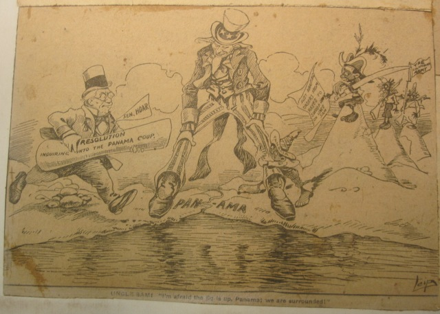 """Uncle Sam: ,"" from a [Scrapbook of political cartoons from American newspapers] circa 1890-1920. Newberry call number: scrapbook – oversize NC1420 .S37."