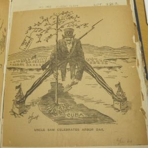 Uncle Sam Celebrates Arbor Day