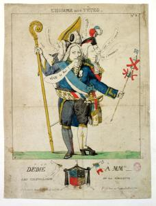 """The Man with Six Heads,"" caricature of Charles Maurice de Talleyrand-Perigord, 1815"