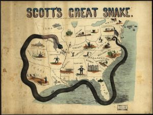 "Figure 3 - J.B. Elliot. ""Scott's great snake."" 1861."
